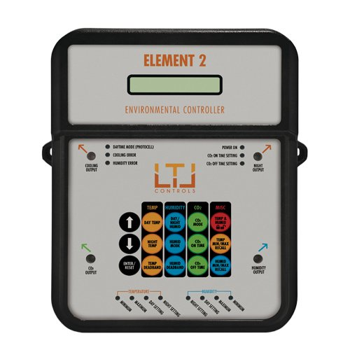 LTL Control Element 2 - Complete Environmental Controller for Fan, CO2, Humidifier, Light Sensor and Nighttime Devices