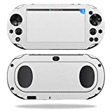 MightySkins Protective Vinyl Skin Decal for Sony PS Vita (Wi-Fi 2nd Gen) wrap cover sticker skins White Carbon Fiber