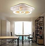Style home® 24W LED Modern Design Deckenleuchte Deckenlampe Wandlampe dimmbar Fernbedienung Wohnzimmer Schlafzimmer 6817-Volldimmbar