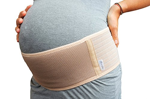 Jill & Joey Belly Band for Pregnancy - Back and Belly Support to Soothe Pregnancy and Maternity Pain in Hips and Pelvis - Breathable Belt, Adjustable Size, (Pregnancy Pelvic Belt)