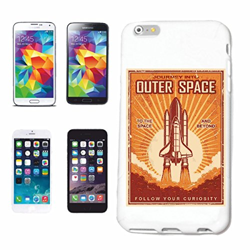 "cas de téléphone iPhone 7+ Plus ""SPACESHIP OUTER SPACE ASTRONAUTE NASA SPACE SPACE SPACE ASTRONAUTE ROCKET UNIVERSE"" Hard Case Cover Téléphone Covers Smart Cover pour Apple iPhone en blanc"