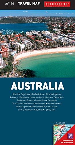 Australia Travel Map, 10th (Globetrotter Travel Map) - Globetrotter Travel Map