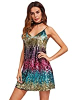 Verdusa Women's Sleeveless Fit and Flare Loose Party Clubwear Dress