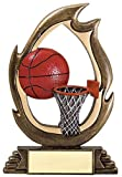 Basketball Flame Series Trophy - Burning Basketball Awards - Customize Now - Personalized Engraved Plate Included & Attached to Award - Perfect Burning Basketball Award Trophy - Decade Awards