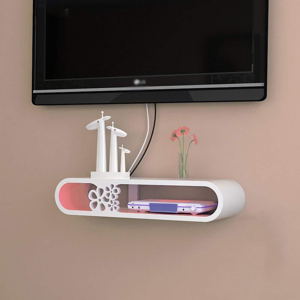 A DYR Wall Cabinet Shelf Partition TV Background Wall Decoration Set top Box Shelf (color  B)
