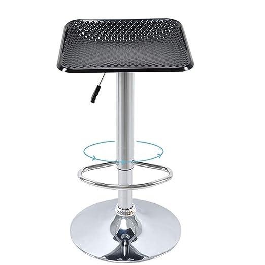 Yzibei Taburete de Bar Barstools de plástico Giratorio Ajustable ...