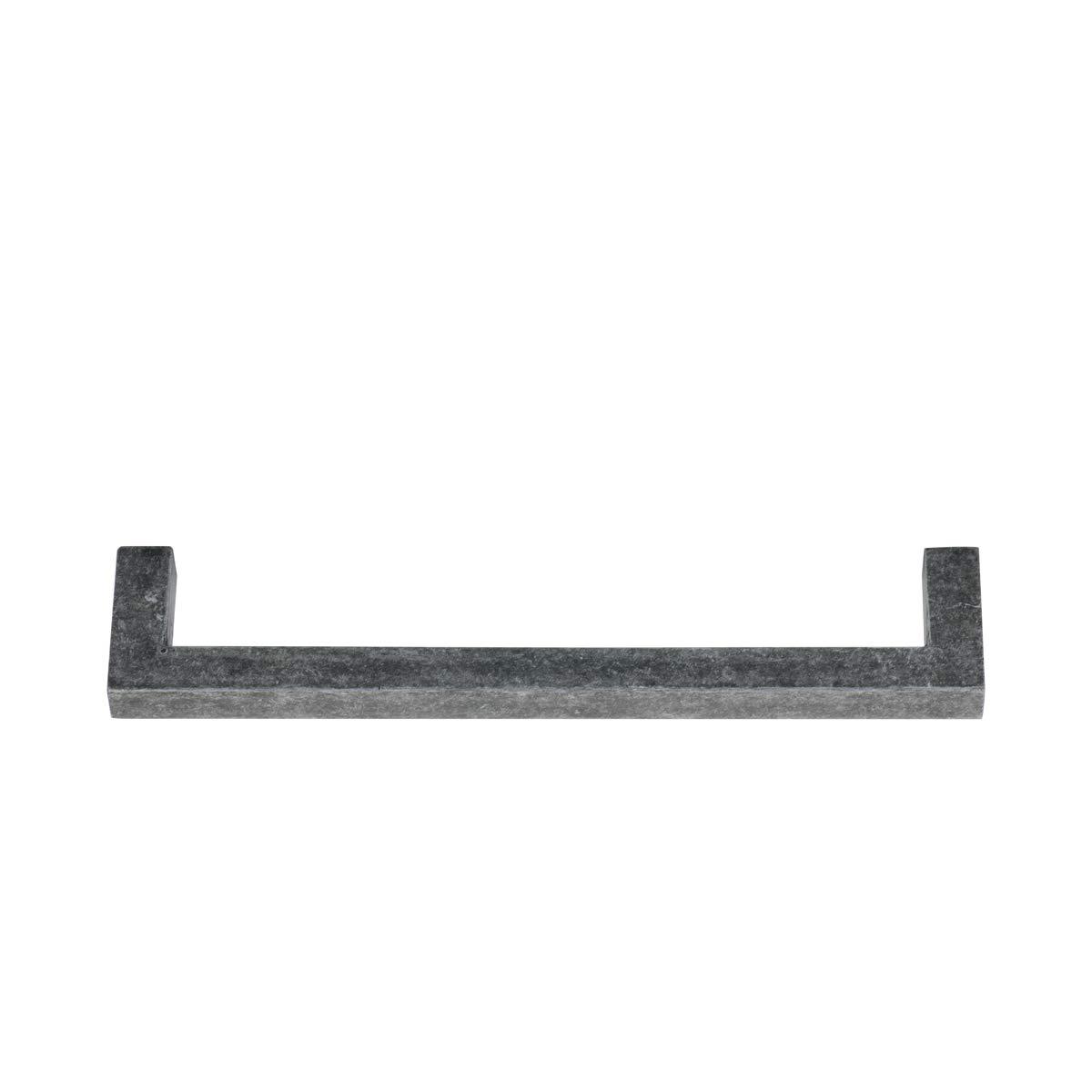 10,5 cm de longitud AB3701-AS-10 Tirador de armario Basics 9,5 cm centro del agujero plata envejecida