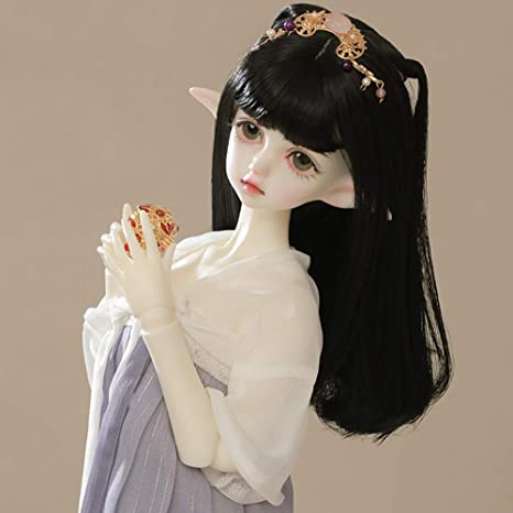 DIY BJD Doll Toddler Fashion Cute Doll For Baby Girl Birthday Gift 1//4 Handmade