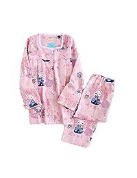 [Pink Cute Fox] Cotton Maternity Pajamas Set Nightwear Breastfeeding Pajamas