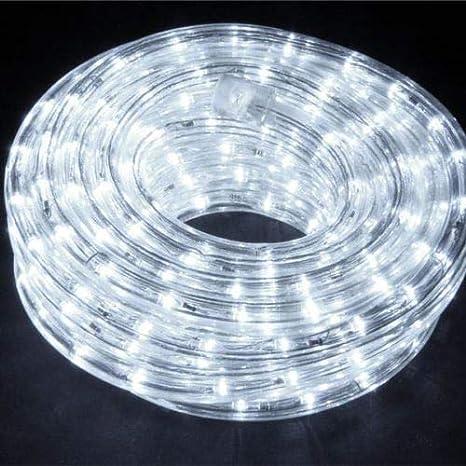 lgvshopping Tubo luces led para árbol Navidad 30 metros luz blanco fría interno y externo: Amazon.es: Iluminación