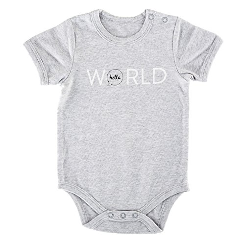 Stephan Baby Gray Stripe Snapshirt-Style Diaper Cover, I'm Not Crying I'm Ordering Dinner, 3-6 Months ()