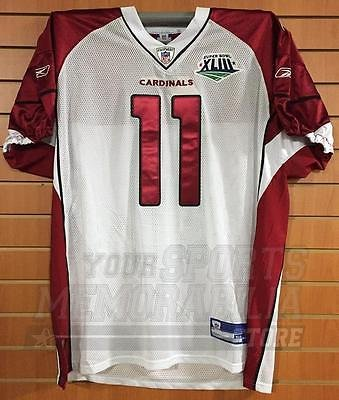Larry Fitzgerald Arizona Cardinals Custom Authentic On-Field Super Bowl  Jersey 9c885a567