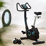 Capital-Sports-durate-X77-ergometer-Bike-Cardio-Fitness-Bike-Cyclette-cardiofrequenzimetro-Training-Computer-volano-da-9-kg-con-Motore-di-Supporto-Max-100-kg-Nero-o-Argento