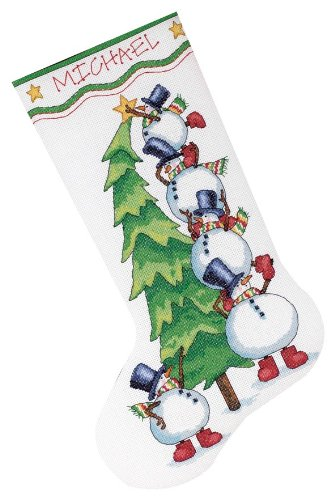 Dimensions Needlecrafts Counted Cross Stitch, Trimming The Tree Stocking Tree Cross Stitch Pattern