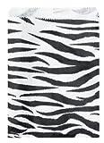 200 pcs Zebra Print Paper Gift Bags Shopping Sales Tote Bags 6″ x 9″, Health Care Stuffs
