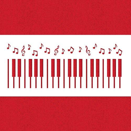 Piano Keys Cake Stencil by Designer Stencils