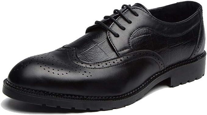 Amazon.com: Hilotu - Zapatos clásicos de boda para hombre ...