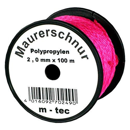 LOT-MAURERSCHNUR 100 m x Ø 2,0 mm PINK-FLUORESZIEREND