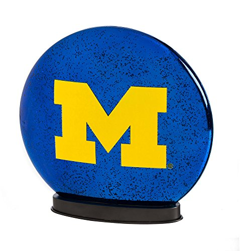 Team Sports America Michigan Wolverines LED Glass Disk Indoor Light ()