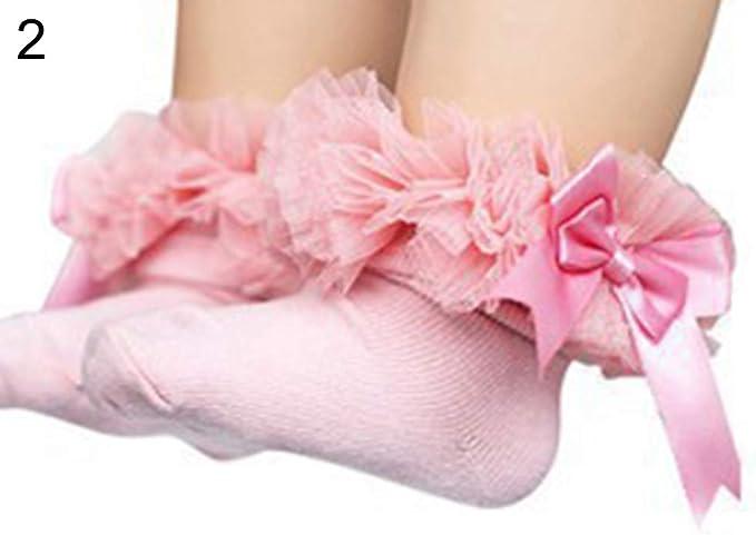 Calcetines de algodón suave para niña, color sólido, diseño de ...