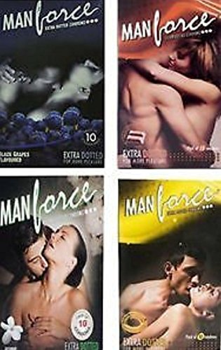 Man Force Extra Dotted Condoms -Black Grapes Flavoured