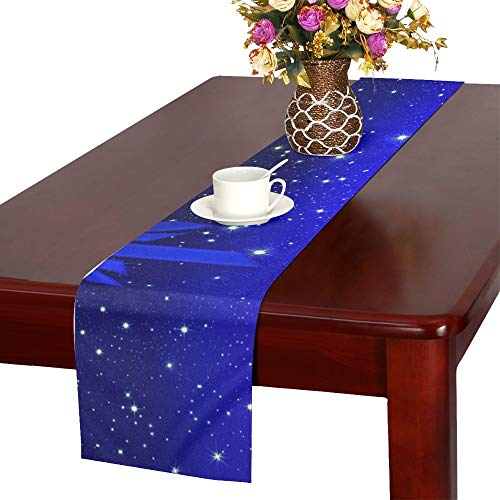Gift Coupon Gift Card Blue Christmas Star Light 530328 Table Runner, Kitchen Dining Table Runner 16 X 72 Inch for Dinner Parties, Events, Decor