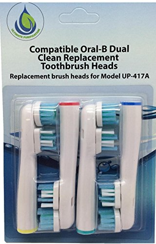 Ultimate Purification New Premium Replacement Toothbrush Heads Compatible Oral B Dual Action. Soft Bristles. 4 Brushes per Pack ( (3 Pack 12pcs)