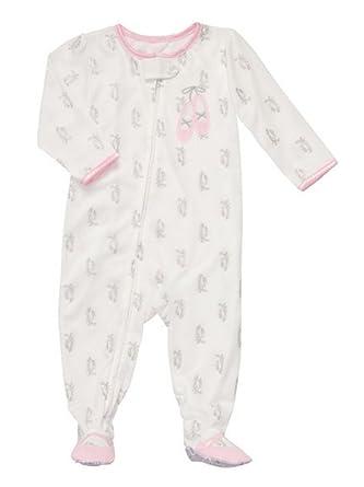 4fc592e6f Amazon.com  Carter s Infant   Toddler Girls White Ballerina Sleeper ...