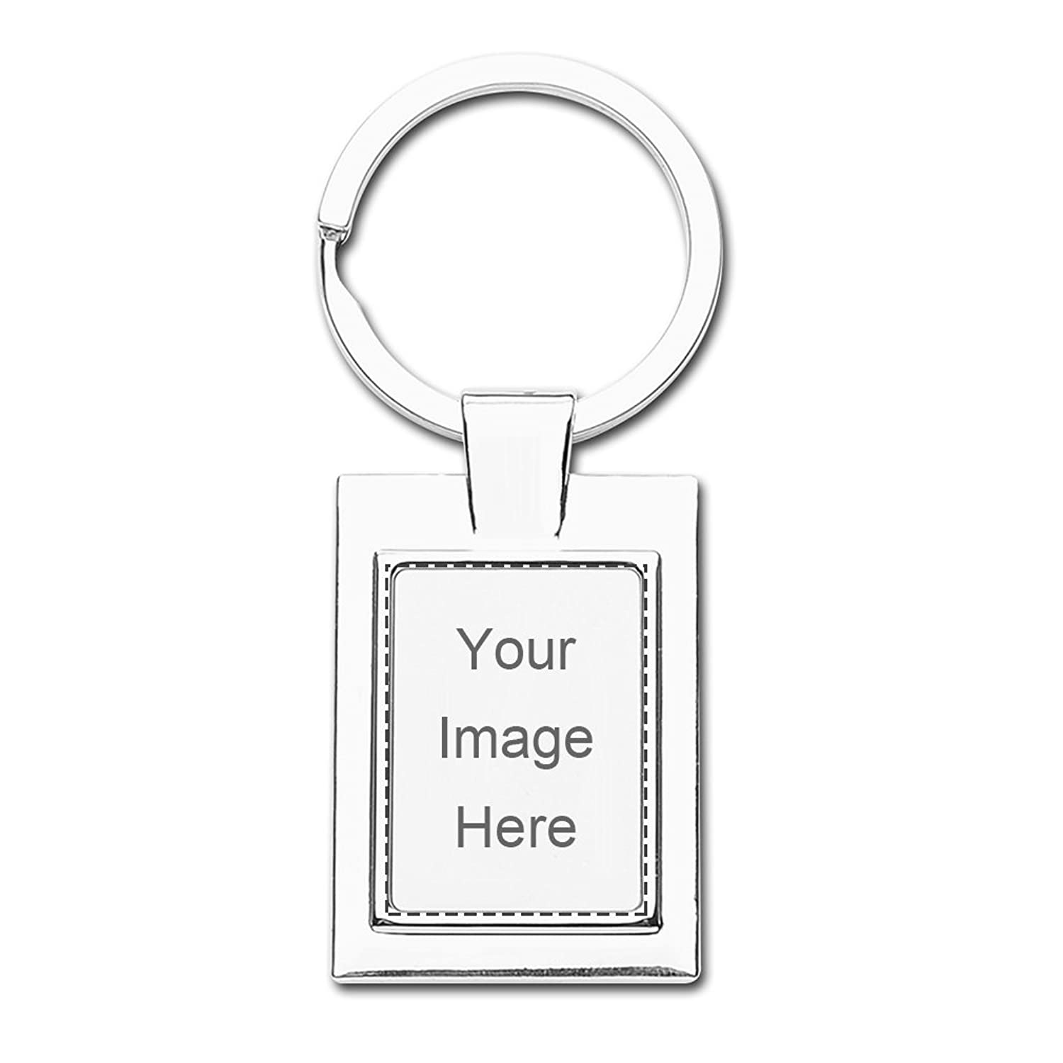 Design Prinablet photo or text Keychains Custom Personalized Rectangle Keychain Set