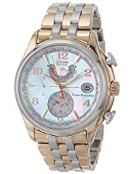 Citizen Women's FC0006-52D World Time A-T Eco-Drive Mother-Of-Pearl Dial Watch