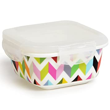 Attirant Square Porcelain Food Storage Container   Lunch, Airtight, Lid