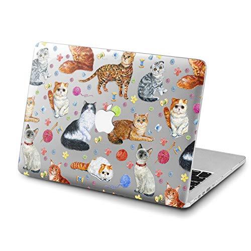 Lex Altern New MacBook Case Pro 13 inch Mac 15 Air 11 12 2018 Cute Cats Pattern A1990 Flower Retina Animal Cover Apple Kitten 2017 Clear 2016 Kawaii Laptop Protective -