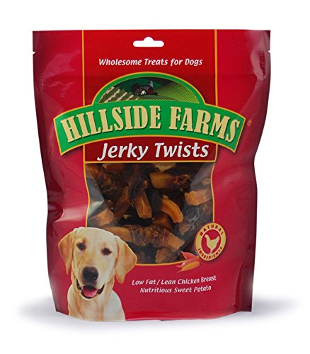 Hillside Farms Filler Free Chicken Jerky & Sweet Potato Twists, Premium Treats for Dogs, 32-Ounce Bag