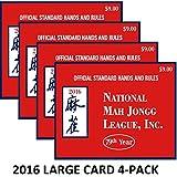 National Mah Jongg League 2016 Scorecard - Large Print (4 Pack)