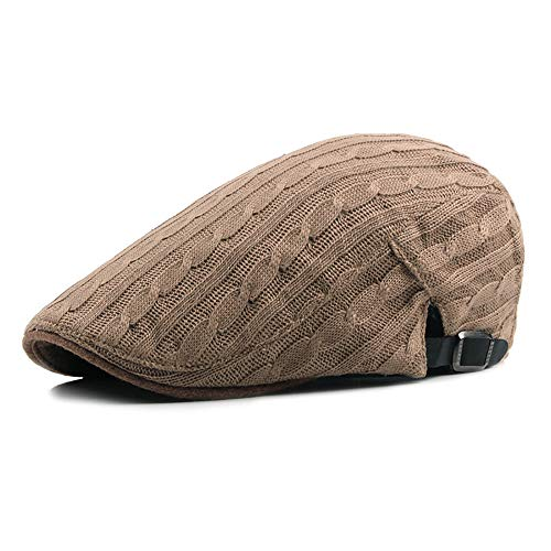 SXBag Unisex Winter Adjustable Flat Cap Cotton Felt Ivy Duckbill Knitted Newsboy Gatsby Casual Irish Cap` (Color : 5, Size : Free Size)