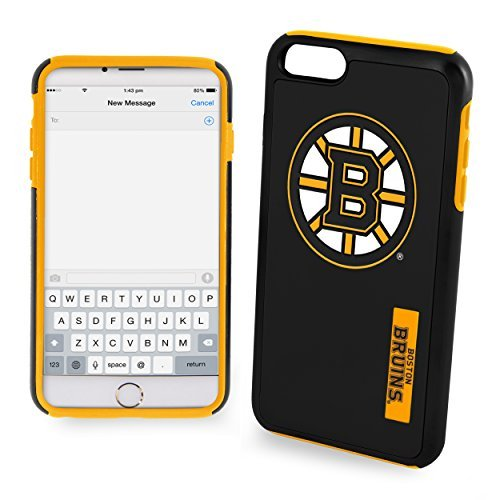 NHL Boston Bruins IPhone 6 Dual Hybrid Case (2 Piece), Black by Forever