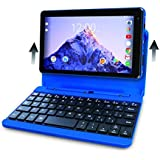 2017 Newest Premium High Performance RCA Voyager 7 16GB Touchscreen Tablet/Computer with Keyboard Case - Quad-Core 1.2Ghz Processor - 16GB Hard Drive - Webcam Wifi Bluetooth - Android 6.0 - Blue