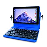 2017 Newest Premium High Performance RCA Voyager 7'' 16GB Touchscreen Tablet/Computer with Keyboard Case - Quad-Core 1.2Ghz Processor - 16GB Hard Drive - Webcam Wifi Bluetooth - Android 6.0 - Blue