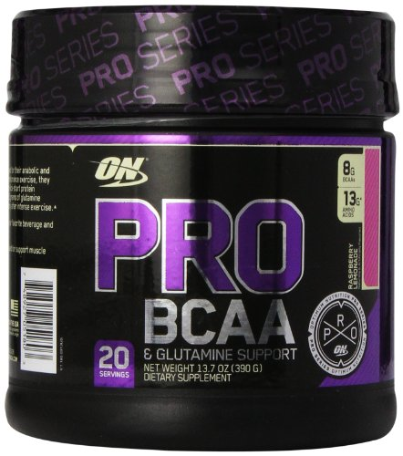 Optimum Nutrition Pro BCAA Drink Mix, Raspberry Lemonade, 20 Servings, 13.7 Ounce
