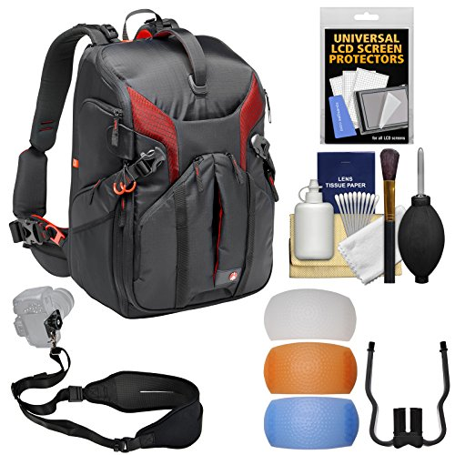 Manfrotto Pro Light 3N1-36 PL DSLR Camera Sling Backpack Case with Sling Strap + Flash Diffusers + Kit -