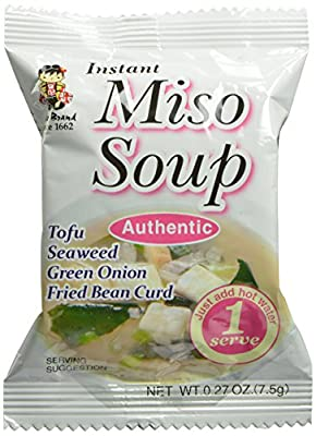 Miyasaka Freeze Dried Authentic Miso Soup, 0.27-Ounce (Pack of 12) by MIYASAKA JOZO USA INC.