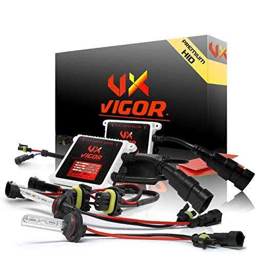 """Vigor 9005 / HB3 Xenon Hid Conversion Kit ( 10k 10000k Deep Blue / Dark Blue ) with """" **Second Generation Premium **"""" Two Bulbs & Two Ballasts All Bulbs Sizes & Colors Available Hids light Kits"""
