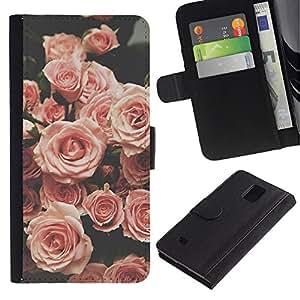 iBinBang / Flip Funda de Cuero Case Cover - Viñeta Primavera Vintage - Samsung Galaxy Note 4 SM-N910