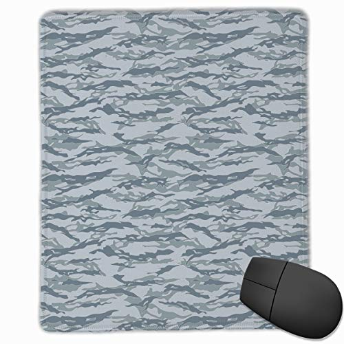 Olive Edith 7.1'' L 8.7'' W Mouse Pads Winter Tiger Stripe Camo Gifts Grey Waterproof Mpuse Pad Non-Slip Mouse Mats 18L22W cm Gaming ()