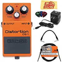 Boss DS-1 Distortion Bundle with Power Supply, Instrument...