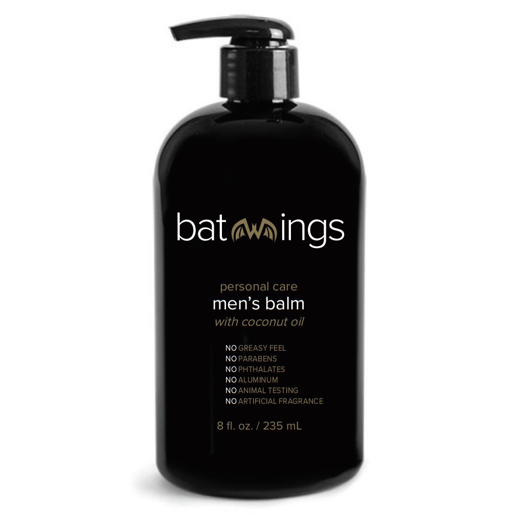Batwings Personal Care Men's Balm With Coconut Oil for Anti-Chaffing and Irritated Skin - 8 fl oz.