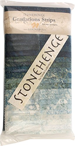 Stonehenge Gradations Blue Planet Stone Strips 40 2.5-inch Strips Jelly Roll Northcott (Stone Strip)
