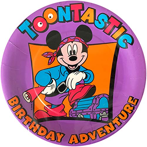 Mickey Mouse 'Toontastic Pirate Birthday Adventure' Small Paper Plates ()