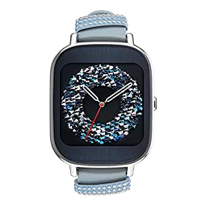 ASUS ZenWatch 2 WI502Q (BQC) Smart Watch - International Stock - Silver Case with Swarovski Leather Band