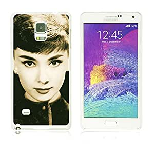 OBiDi - Celebrity Star Hard Back Case for Samsung Galaxy Note 4 - Audrey Hepburn by runtopwell